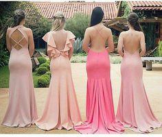Vestido madrinha de casamento no campo, vestido de festa rosa Pink Prom Dresses, Bridesmaid Dresses, Formal Dresses, Wedding Dresses, Bridesmaids, Enchanted Forrest Wedding, Moda Chic, Casual Chic Style, Beauty Women