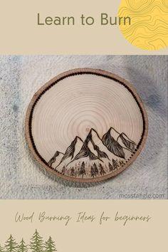 Wood Burning Kits, Wood Burning Crafts, Wood Burning Patterns, Creative Crafts, Fun Crafts, Creative Decor, Wood Stone, Stone Art, Natural Wood Crafts
