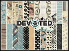 """""""Devoted Collection"""" by Authentique Paper- After years of development, Authentique Paper's collection devoted to pets is ready to unveil! The quote we used to anchor """"Devoted"""" sums up the collection perfectly (see below). This line is a beautiful, vintage collection full of sophistication and it is sure to become and Authentique classic!"""
