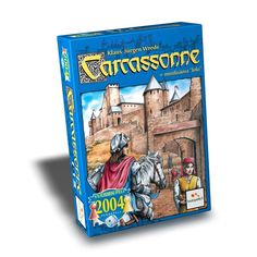 Carcassonne is the acclaimed tile laying game with a setting in the South of France published by Z-Man Games. Man Games, Dice Games, Carcassonne Board Game, Summer Camp Themes, Medieval, Face Down, Strategy Games, Jouer, Board Games