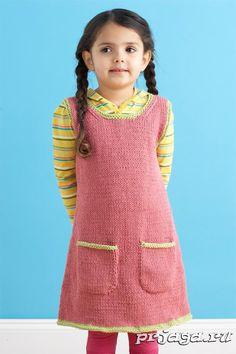 Вязание сарафана спицами для девочки