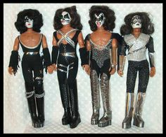 Kiss dolls from the 70's. My cousin had these and we always fought over who got to be Gene Simmons.