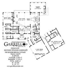 Boulder Brook Cottage House Plan 06379, 1st Floor Plan, Mountain Style House Plans, Rustic Style House Plans