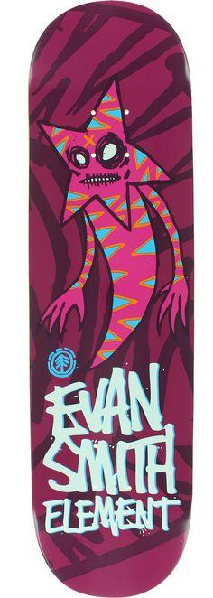 Element Skateboards Evan Smith Featherlight Sprites Skateboard Deck