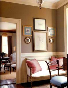 foyer wall opening into dining room My Living Room, Living Room Decor, Living Spaces, Dining Room, Wall Colors, Accent Colors, House Colors, Vignettes, Console Table