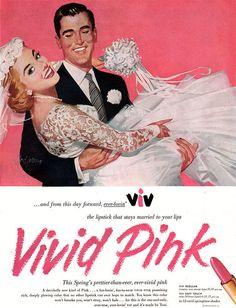Vintage lipstick ad #1950s #wedding