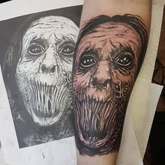 Photo by (dimplybean_mua) on Instagram | #tattoo #tattoos #ink #inked #blackandgreytattoo #uktta #ukbta #tattooartist #tattooart #tattoooftheday #tattoosofinstagram #skinart #bodyart #picoftheday #birmingham #tattooartistmagazine #birmingham #art #artist #tattooed #tattooing #ink #zombie #zombietattoo #horror #horrortattoo #evil #horrorink Zombie Tattoos, Horror Tattoos, Birmingham Art, Skin Art, Black And Grey Tattoos, Tattoo Artists, Body Art, Ink, Instagram
