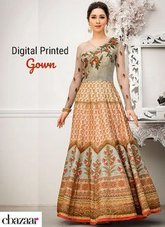 c7acdca6d8 Digital Printed Gowns #fashionblog #fashionblogger #fashion #trends  #styleinspiration #Cbazaar #