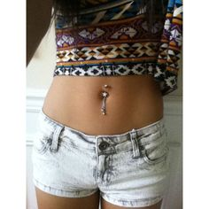 belly button piercing | Tumblr ❤ liked on Polyvore