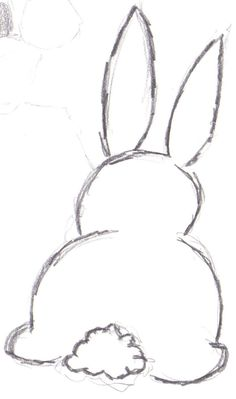 Bunny Outline Drawing