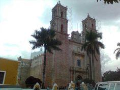 #andamios para la Catedral de Valladolid de Yucatán, México