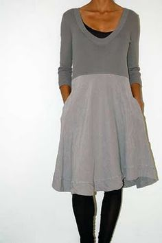 dress by Kristensen du Nord - this is quite a nice idea adding a skirt to a top