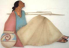 Native Southwestern American Indian Woman Large Metal by Jaxsprats Native American Women, American Indian Art, Native American Indians, Southwestern Art, Copper Art, The Ordinary, Female Art, Etsy Vintage, Nativity