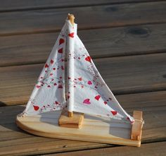 Hearts on a Vine Sailboat in White by TweetToys on Etsy, $20.00....greatly enjoy this product & shop on Etsy!