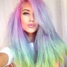 Cabello con colores del arco iris la nueva tendencia de moda ...