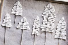 Royal Icing Trees—Adorn our Gingerbread Cake with these beautiful edible trees.