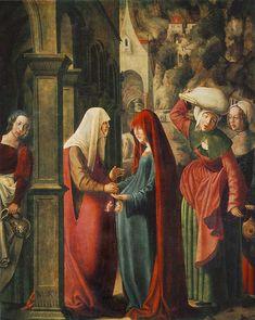 Visitación de María Santísima a Sta. Isabel (Mayo 31). Lucas 1:39-46 [...] María se fue con prontitud a la región montañosa, a una ciudad de Judá;  entró en casa de Zacarías y saludó a Isabel. Y sucedió que, en cuanto oyó Isabel el saludo de María, saltó de gozo el niño en su seno, e Isabel quedó llena de Espíritu Santo;  y exclamando con gran voz, dijo: «Bendita tú entre las mujeres y bendito el fruto de tu seno... La celebración de la fiesta es iniciativa de San Buenaventura, en el 1263