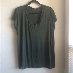 Deep olive green v-neck tee Very light and comfy. Breathable material, v-neck style. Merona Tops Tees - Short Sleeve
