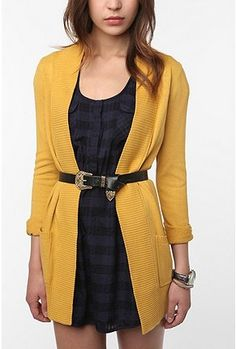 Colours that look good together....Mustard Yellow, Black and Dark Blue