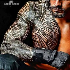Roman Reigns #HotTattoos #polynesiantattooschest