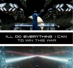 I'll do everything I can to win this war