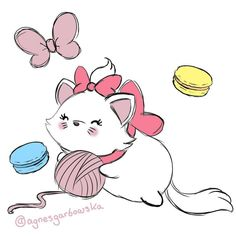 Another little Marie Tsum Tsum from Aristocats since she is so cute. Disney Dream, Disney Love, Disney Magic, Disney Art, Disney Sketches, Disney Drawings, Marie Cat, Tsumtsum, Disney Tsum Tsum