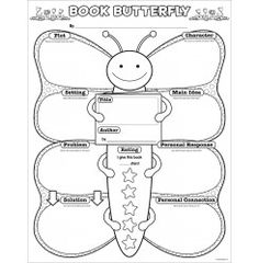 Book Butterfly Graphic Organizer Posters: Reading Response (Grades K–2)