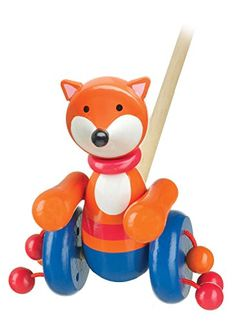 Wooden Fox Push-along Toy