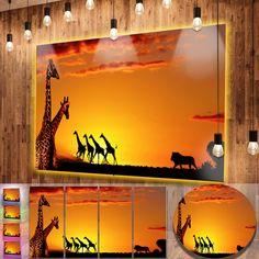 nice Designart 'Beautiful African Wildlife Concept' African Metal Wall Art Check more at http://hasiera.co.uk/s/furnishings/product/designart-beautiful-african-wildlife-concept-african-metal-wall-art/