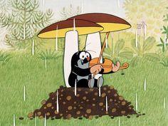 (2014-07) Muldvarpen spiller violin i regnvejr