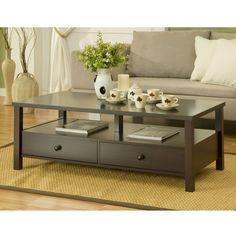 Cottage 2-drawer Coffee Table | Overstock.com Shopping - The Best Deals on Coffee, Sofa & End Tables