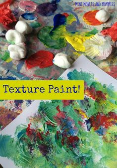 Textured paint and color-mixing! Spring flower art activity based on Renoir's paintings.