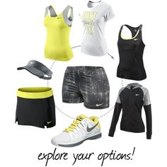 A fashion look from January 2013 featuring NIKE hoodies, NIKE tops and NIKE. Browse and shop related looks. Sporty Girls, Sporty Outfits, Athletic Outfits, Cute Outfits, Fashion Outfits, Womens Fashion, Tennis Outfits, Tennis Gear, Tennis Clothes