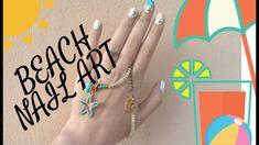 Summer 2018 Beach nail art tutorial/Stella T nail designs Quick Dry Nail Polish, Dry Nails Quick, Beach Nail Art, Beach Nails, New Nail Art, Nail Designs, Summer, Summer Time, Fast Drying Nail Polish