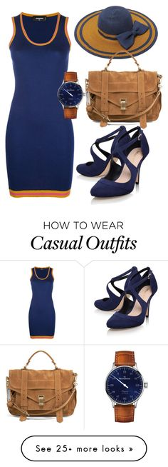 """casual"" by alice-fortuna on Polyvore featuring Dsquared2, Proenza Schouler, Miss KG and MeisterSinger"