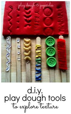 11 Easy DIY Play Dough Tools To Explore Texture - Preschool Fine Motor Skill Activity - Indoor Activity - DIY Toys
