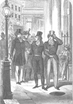 "Regency shade: ""who's your fat friend?"" Beau Brummel asks about the future king of England, George IV, 1811."
