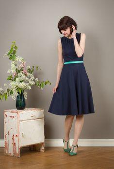"""Sommerkleid """"Luzia"""" mit Tellerrock ohne Ärmel von Jekyll und Kleid auf DaWanda.com Das ist glaub ich meins!!"""
