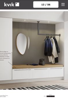 16 Elegant Scandinavian Hallway Designs That Can Improve Your Home entrance hall ideas Living Room Interior, Home Interior Design, Interior Livingroom, Flur Design, Hallway Designs, House Entrance, Hall House, Entrance Halls, Entry Hall