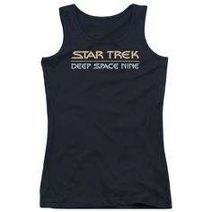 """Checkout our #LicensedGear products FREE SHIPPING + 10% OFF Coupon Code """"Official"""" Star Trek / Deep Space Nine Logo - Juniors Tank Top - Star Trek / Deep Space Nine Logo - Juniors Tank Top - Price: $29.99. Buy now at https://officiallylicensedgear.com/star-trek-deep-space-nine-logo-juniors-tank-top"""