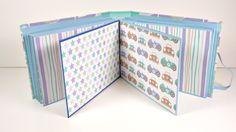 Mini Album Infantil acordeón con tapas duras | Scrapbooking | Mundo@Party