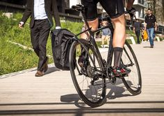Creating a more enjoyable bike ride, this bike rack is made of carbon fiber and connects to virtually any seat post and Tailfin skewer by the gears.