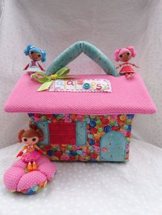 Cute As A Button Fabric Dollhouse For Mini Lalaloopsy Dolls // Made To  Order Last One Available. Doll Furniture ...