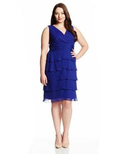 $81 Jessica Howard Petite Bead-Trim Tiered Dress | Jessica Howard ...