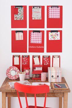 100円ホルダーで収納ピンナップ  100yen shop clip board DIY organize around your desk,craft room