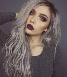 """""""In love with the hair and bold makeup @jessjanemakeup """""""