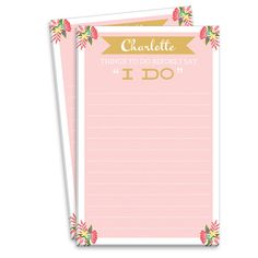 Pink Sweet Bridal Checklist Notepads