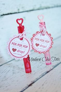 cute Valentine idea for Maddie for school. She LOVES bubbles! Original article and pictures take https:/. Cute Valentine Ideas, Kinder Valentines, Valentine Day Love, Valentines Day Party, Valentine Day Cards, Valentine Crafts, Valentine Activities, Valentinstag Party, Sei Mein Valentinsschatz