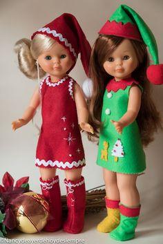 He recuperado el vestido del año pasado de Papa Noel que lucio Nancy Coleccion y que se lo ha prestado a Nancy novia. Con los mismos patron...
