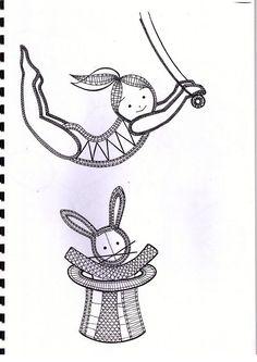 Patrones para bolillos relacionados con el circo...